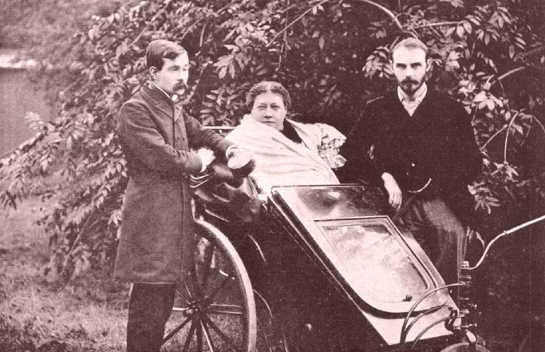 H.P. Blavatsky with James Pryse (left) and G.R.S. Mead, London, 1890.