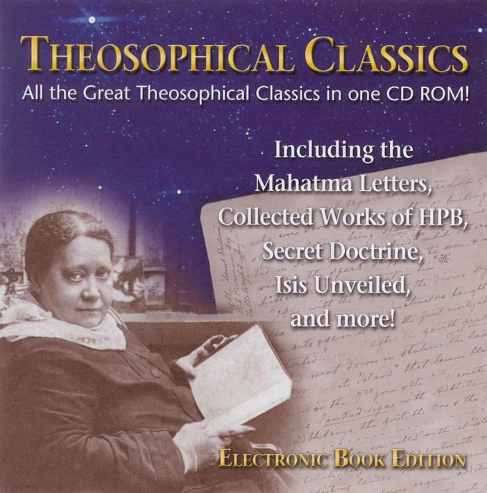 Theosophical Classics -  CD ROM - Front Cover